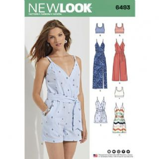6493 New Look Pattern: Misses' Summer Jumpsuit and Summer Dress